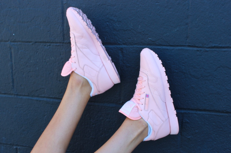 I love that every part of the shoe is pink, even the sole.